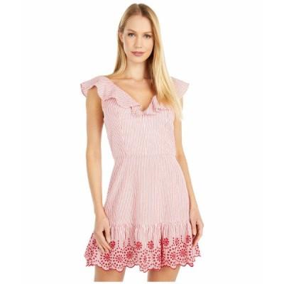 BCBジェネレーション ワンピース トップス レディース Embroidered Ruffle Dress - TSS6278147 Cherry