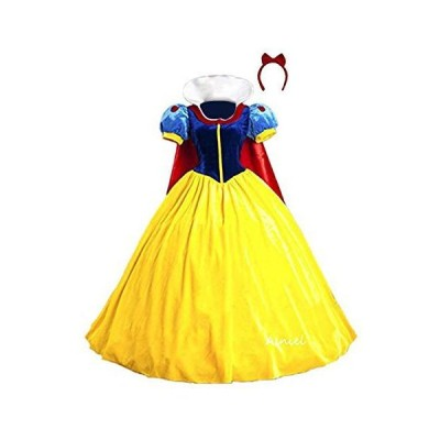 Ainiel Classic Deluxe Costume Dress for Adults Kids(X-Large) Yellow