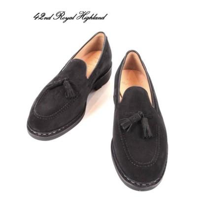 42ND ROYAL HIGHLAND EXPLORER タッセルローファー スエードドレスシューズ 紳士靴 革靴 ビジネス CHN7002S-01 BLACK ブラック 国内正規品