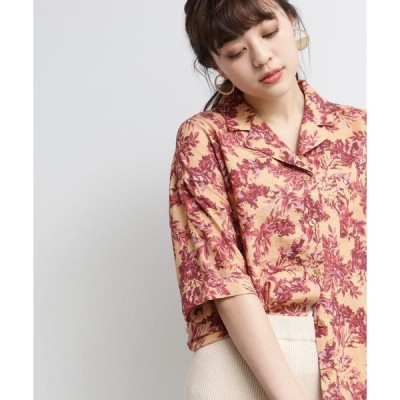 OZOC / オゾック [洗える]プリント開襟シャツ