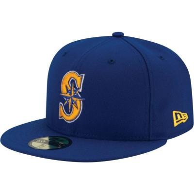 ニューエラ New Era メンズ 帽子 Seattle Mariners 59Fifty Alternate Royal Authentic Hat