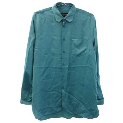 LOUIS VUITTON (ルイヴィトン) 19SS スリットレーヨン長袖シャツ RM191 JPI HGS80W ブルー