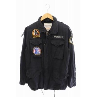 【中古】ヒステリックグラマー HYSTERIC GLAMOUR M-65 ミリタリージャケット 0241AB02 黒 ブラック ● 210421 0030