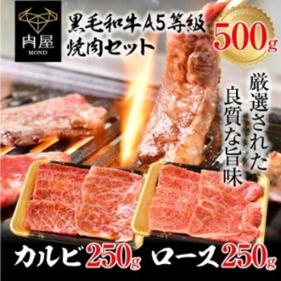 焼肉 焼肉セット A5 黒毛和牛 カルビ ロース 詰め合わせ 500g セット 焼き肉 A5ランク 和牛 肉 お肉 牛肉 霜降り 高級
