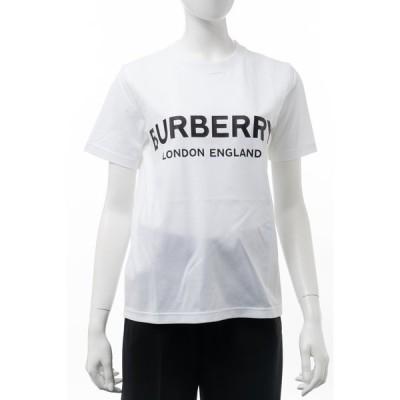 バーバリー BURBERRY Tシャツ 半袖 丸首 クルーネック レディース 8008894 ホワイト 2020年秋冬新作