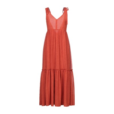GESTUZ ロングワンピース&ドレス オレンジ 38 ポリエステル 100% ロングワンピース&ドレス