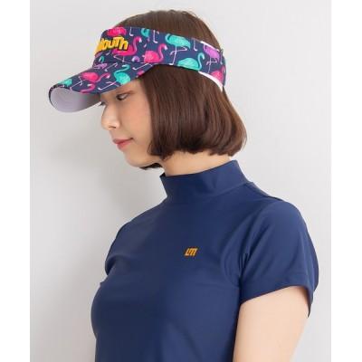 Karlas / 【LOUDMOUTH/ラウドマウス】ブランド ロゴ刺繍 総柄 サンバイザー MEN 帽子 > サンバイザー