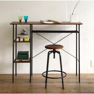 カウンターテーブル デスク ハイカウンター オープンラック ラック付 収納 木製 スチール パソコンテーブル anthem Counter Table   ant-2399