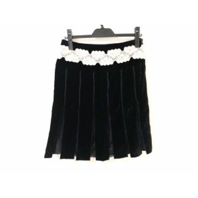 ブルーガールブルマリン BLUGiRL BLUMARINE スカート レディース 黒×アイボリー×ベージュ レース【中古】20200326