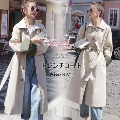 トレンチコートアウターロングコートゆったりジャケットファション2020年新発売春新作