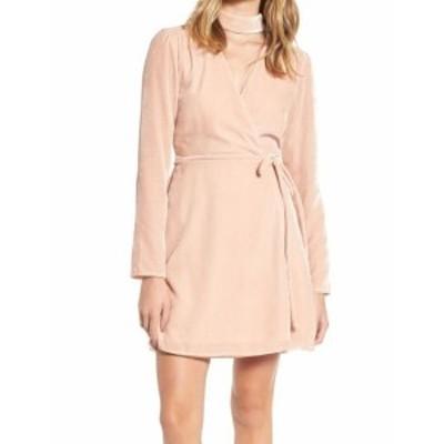 Wayf ウェイフ ファッション ドレス WAYF NEW Deep Pink Women Size Small S Choker Surplice Velvet Wrap Dress