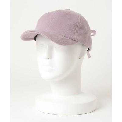 帽子 キャップ [KIDS]ヘアリーレースアップキャップ