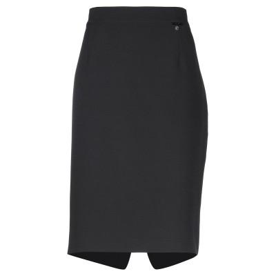 ELISA FANTI ひざ丈スカート ブラック 52 ポリエステル 92% / ポリウレタン 8% ひざ丈スカート