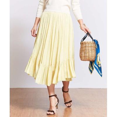(Rouge vif la cle/ルージュヴィフラクレ)裾切替ギャザースカート/レディース イエロー