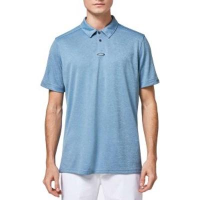 オークリー メンズ ポロシャツ トップス Oakley Men's Gravity Golf Polo Shirt Poseidon