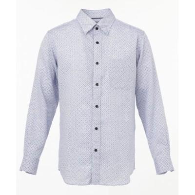 JOSEPH ABBOUD/ジョセフ アブード ソアロンシャンブレープリント シャツ ブルー系5 L