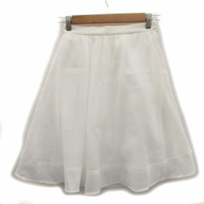 【中古】ミッシュマッシュ MISCH MASCH スカート フレア ひざ丈 1 ホワイト 白 /MS39 レディース