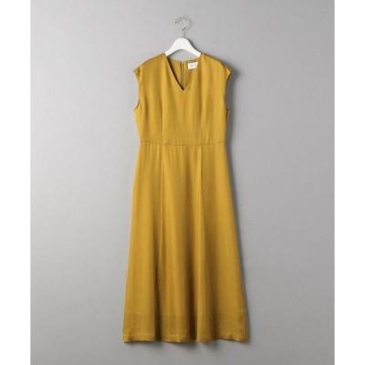 ドレス BY DRESS キュプラツイルVネックドレス