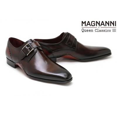 【クインクラシコオリジナルモデル】 マグナーニ / MAGNANNI メンズ ドレスシューズ 23697dbrrd シングルモンクストラップ ダークブラウンレッド スペイン製