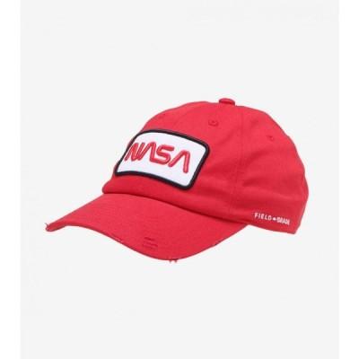 フィールドグレイド Field Grade メンズ キャップ ダットハット 帽子 skylab nasa worm 50th dad hat RED