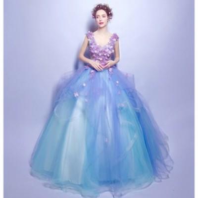 ウェディングドレス カラードレス 大きいサイズ 二次会 花嫁 激安 【T002-HALN1104】