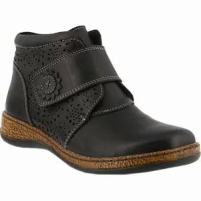 スプリングステップ ブーツ Souzala Bootie Black Leather