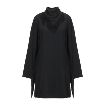 VANESSA SEWARD ミニワンピース&ドレス ブラック 34 アセテート 74% / レーヨン 26% ミニワンピース&ドレス