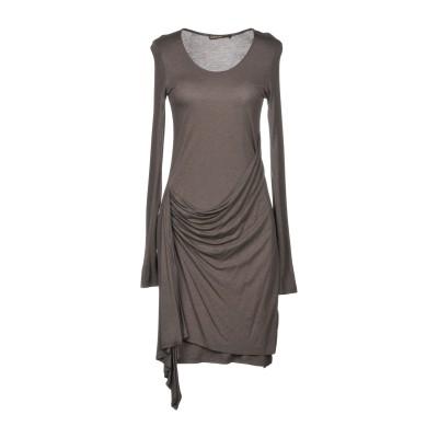 SUPERTRASH ミニワンピース&ドレス 鉛色 M レーヨン 85% / ウール 15% ミニワンピース&ドレス