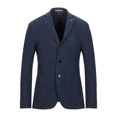 パオローニ PAOLONI テーラードジャケット ダークブルー 56 コットン 90% / 麻 8% / ポリウレタン 2% テーラードジャケット