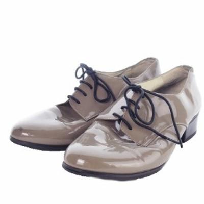 【中古】オリエンタルトラフィック 靴 シューズ オックスフォード レースアップ エナメル L ベージュ レディース