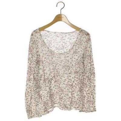 tシャツ Tシャツ 花柄長袖カットソー