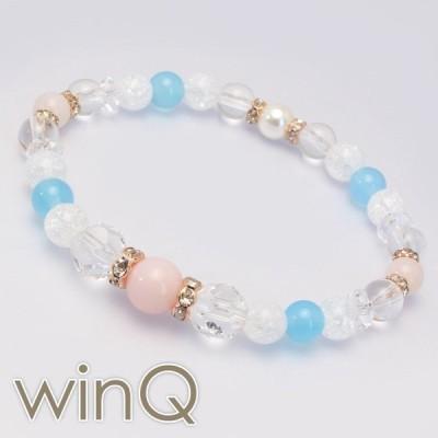(winQ)ピンクオパール・シーブルーカルセドニー パワーストーン 天然石 ギフト