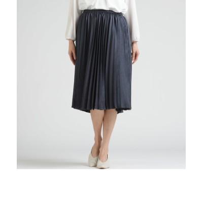 ポリオサテン プリーツスカート