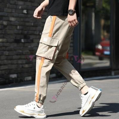 ボトムス メンズ カーゴパンツ ロングパンツ イージーパンツ 運動着 ズボン スポーツウェア サイドポケット 裾絞り ジョガーパンツ  春 夏 トレ