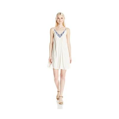 Volcom ジュニアの Money トゥリー Strappy ドレス with Embroidery, Vwh, L(海外取寄せ品)