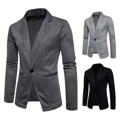 メンズラシャジャケット ブレザー 長袖 無地 細身ジャケット テーラードジャケット メンズ ビジネスジャケット 薄手 紳士服 スーツジャケット 欧米風