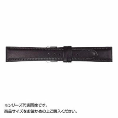 MIMOSA(ミモザ) 時計バンド EMカーフ 21mm ブラック (美錠:銀) CEM-A21 バンド