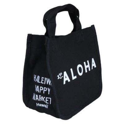 ハワイアン雑貨 トートバッグ ハワイアン 雑貨 ハレイワ HALEIWA アロハプリント ミニトートバッグ(ブラック) HLBG-1803D ハワイアン雑貨