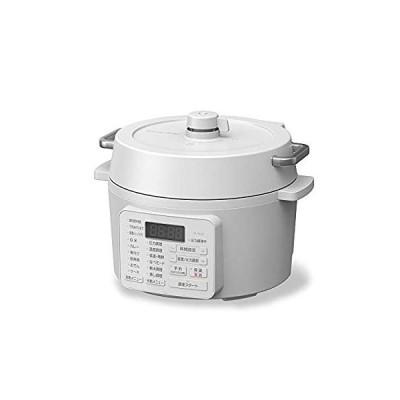 アイリスオーヤマ 電気圧力鍋 2.2L 2WAYタイプ グリル鍋 6種類自動メニュー 65メニュー掲載レシピブック付き ホワイト PC-MA2-W