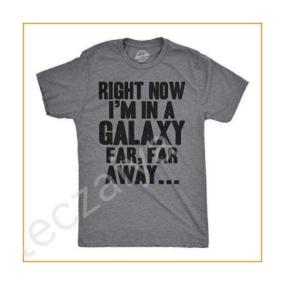 Mens I'm in a Galaxy Far Far Away Tshirt Funny Nerdy Vintage Movie Tee (Dark Heather Grey) - L並行輸入品