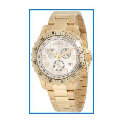 Invicta Men's 11369 Specialty Pilot Design Chronograph Silver Dial 18k Gold