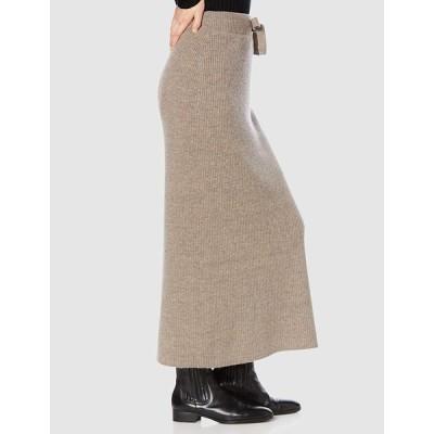 ミラオーウェン ニットロングスカート 09WNS195074 レディース BEG 日本 0 (日本サイズ7 号相当)