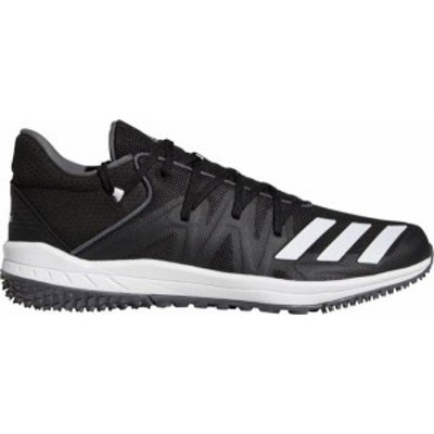 アディダス メンズ スニーカー シューズ adidas Men's Speed Turf Baseball Shoes Black/White