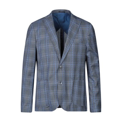 EMPORIO CLOTHING テーラードジャケット パステルブルー 52 ポリエステル 82% / コットン 15% / ポリウレタン 3% テ