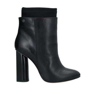 ISLO ISABELLA LORUSSO ショートブーツ ブラック 37 革 / 紡績繊維 ショートブーツ