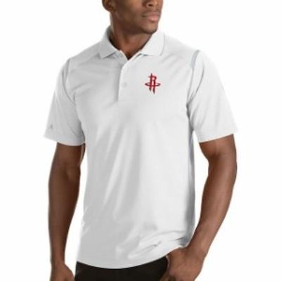 Antigua アンティグア スポーツ用品  Antigua Houston Rockets White Merit Polo