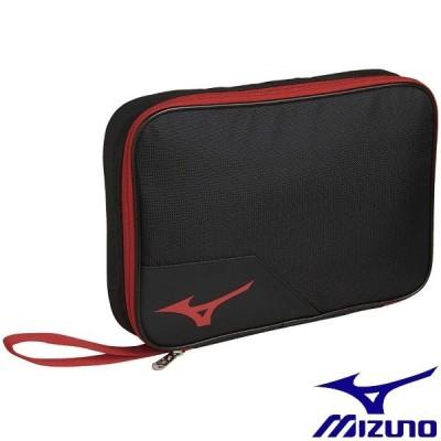 ◆◆ <ミズノ> MIZUNO ラケットソフトケース2 83JD0010 (96:ブラック×レッド) 卓球
