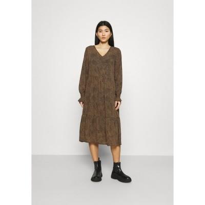 モス コペンハーゲン ワンピース レディース トップス RIKKELIE DRESS - Day dress - brown