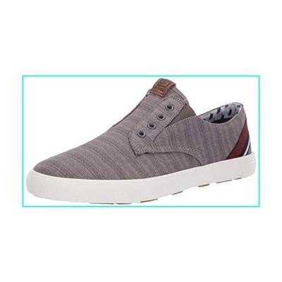 【新品】Ben Sherman Men's Pete Laceless Sneaker, Navy Linen, 10 M US(並行輸入品)