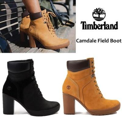 TIMBERLAND Camdale Field Boot  ティンバーランド チャンキーヒール ショートブーツ レディース レースアップ ヌバック  正規品 送料無料 US直輸入